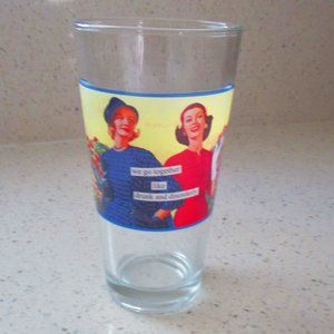Anne Taintor Drinking Glass 50s Kitzsch Funny